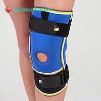 Бандаж на коленный сустав разъемный Алком 3052, 1-4 размер, черный