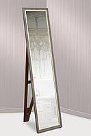 Зеркало напольное в пластиковой раме для комнаты, ванной, прихожей, габариты 45х169 см серо-коричневый
