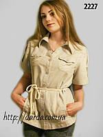 Блузы-туники из льна женские больших размеров Janica 2227