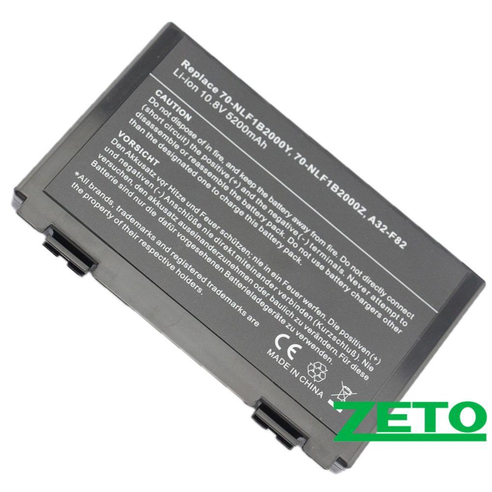 Аккумулятор Asus F52, F82, K40, K50C , K51, K60, K61, K70, X87 (11,1V, 5200mAh, черная)