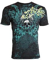 Футболка мужская Archaic Hinsley Skull Wings Tattoo Biker UFC (L)