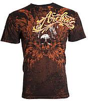 Футболка мужская Archaic Hinsley Skull Wings Tattoo Biker UFC (2XL)
