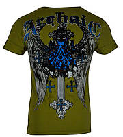 Футболка мужская Archaic Verwood Cross Wings Tattoo Biker UFC MMA (S)