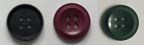 Новые пластиковые пуговицы круглые 20мм 4 удара красные, фото 3