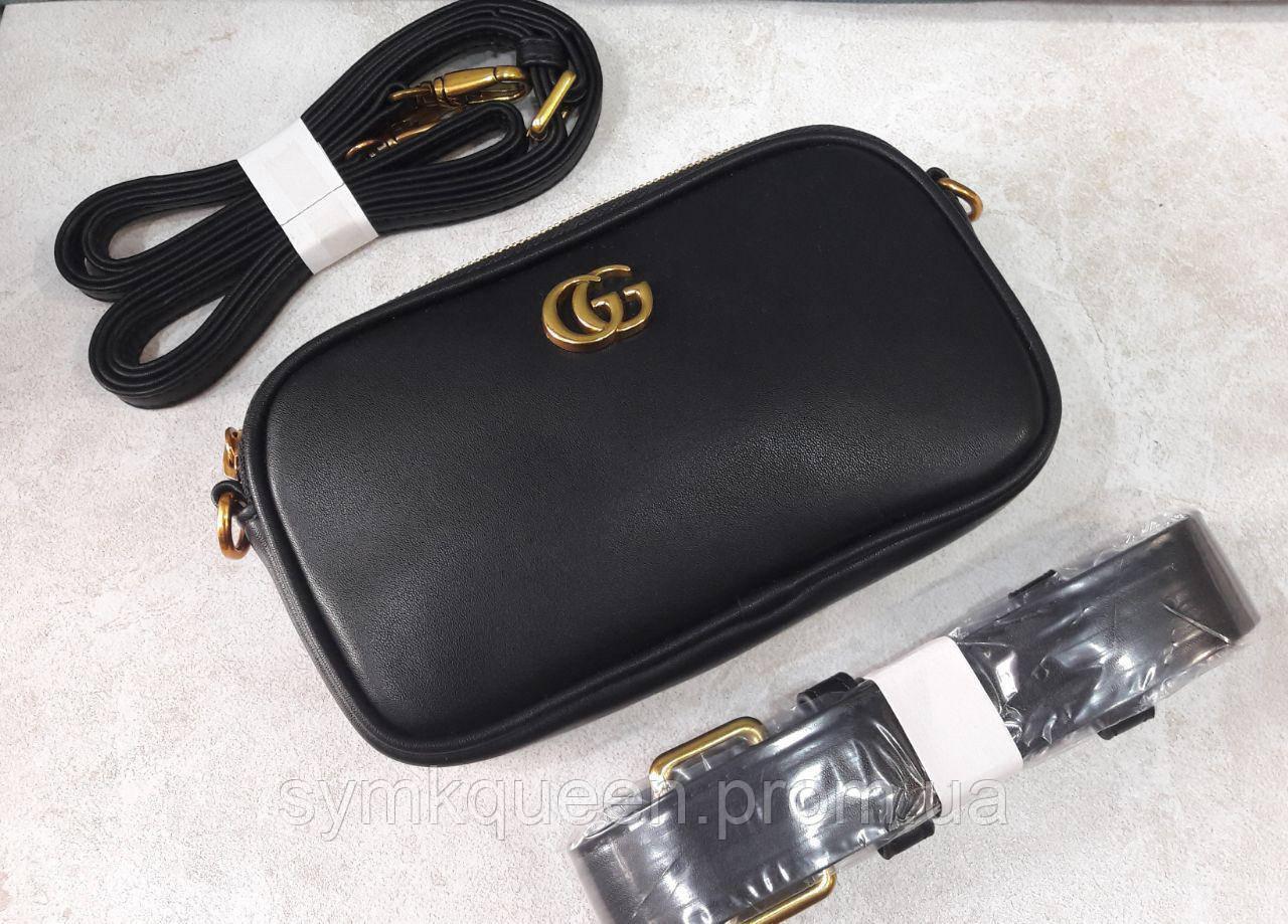 c806fe5cc149 Поясная сумка Гуччи (копия) черная, цена 860 грн., купить Одеса ...