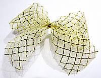 10х9 см Новогодний бантик 1 шт/уп Золотой