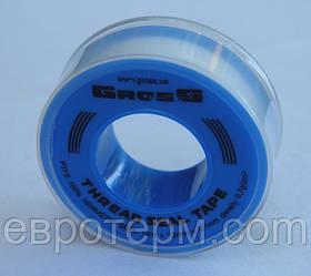 Фум лента для воды (белая) 12м х 12мм х 0,1мм