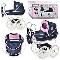 Коляска D 87815 для куклы, сумка, диаметр колеса  25 см, 69-63-39 см, в коробке 58,5-35-22,5 см
