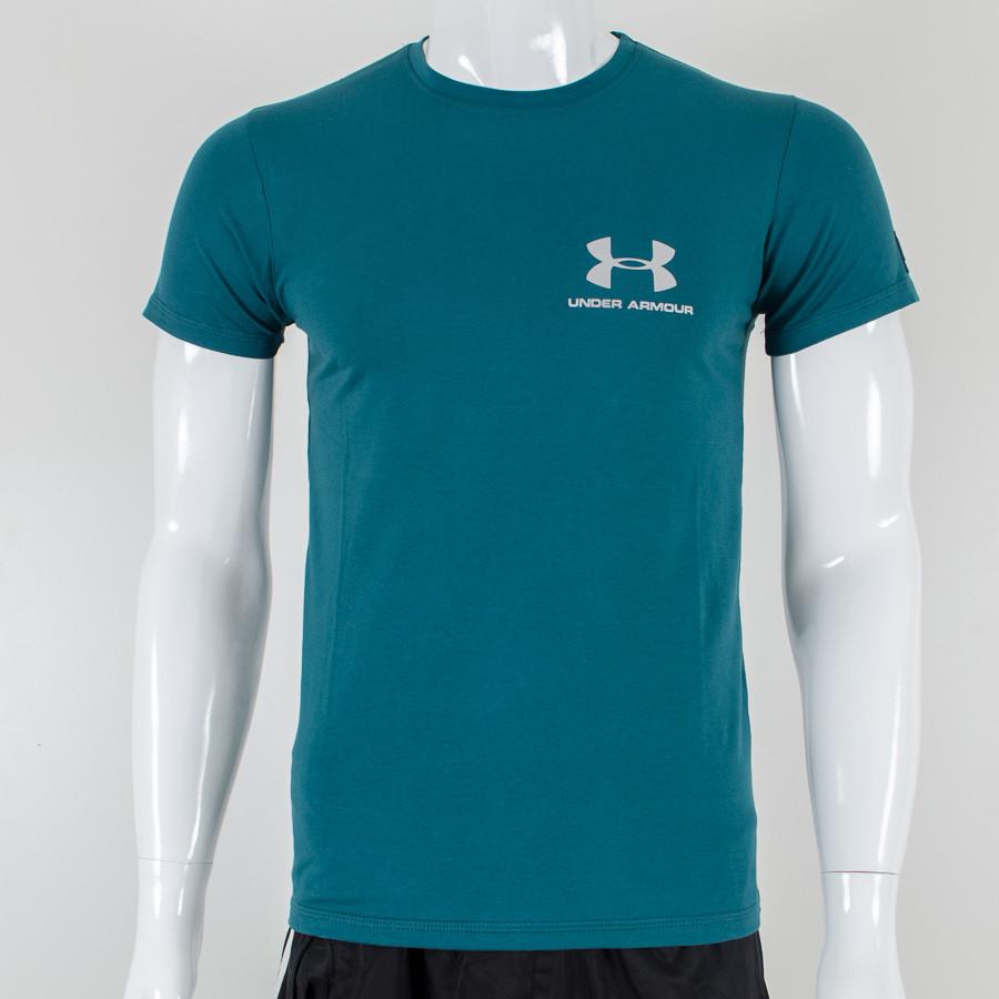 Футболка с логотипом, Under Armour (Зелено синий)