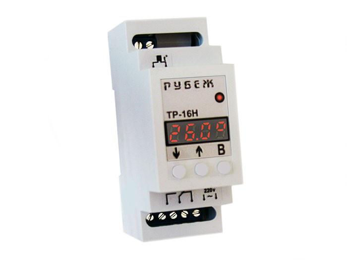 Терморегулятор с недельным таймером цифровой на DIN-рейку РУБЕЖ ТР-16Н