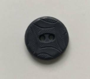 Новые пластиковые пуговицы круглые 17мм 2 удара черные, фото 2