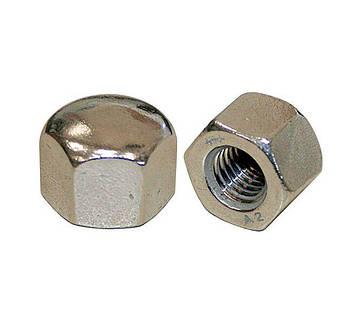Гайка колпачковая М18 DIN 917 (ГОСТ 11860-85) низкая глухая из нержавейки, фото 2