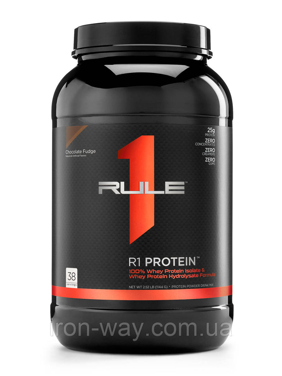 R1 Protein R1 1144 g (Chocolate Fudge), фото 1