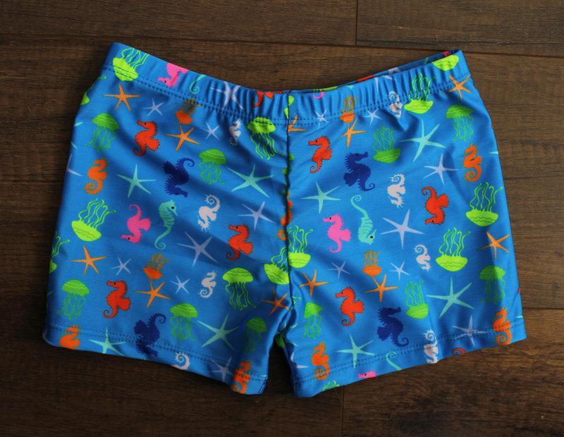 Детские морские плавки-боксеры для мальчиков с морскими мотивами р. 28-38