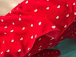 Женское красное платье в сердечки на запах, фото 2