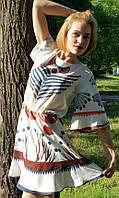 Платье женское белое с рисунком