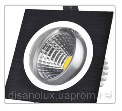 Светильник Downlight LED BR-001 7вт 230в  черный  6500К