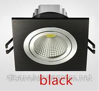 Светильник Downlight LED BR-001 7вт 230в  черный  6500К, фото 2