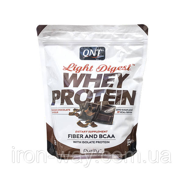 QNT Light Digest Whey Protein 500 g (Шоколад орех)