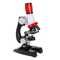 Микроскоп детский  2 в 1 с подсветкой 100-1200х C2121