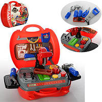 Набор инструментов 8011 (36шт) пила (механич),отверт,гаеч.ключ,молоток,болты,в чемодане,25-22-10см