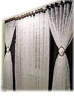 Комплект шторы и тюль на люверсах
