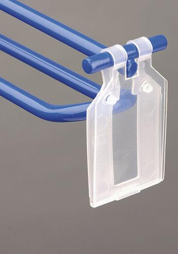 Ценникодержатели пластиковые откидные плоские 35*40мм PP-TAG для двойного крючка