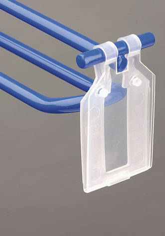 Ценникодержатели пластиковые откидные плоские 35*40мм PP-TAG для двойного крючка, фото 2