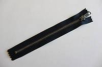 Молния металлическая YКК , размер № 5, длинна - 18 см., тесьма - черная, цвет зубьев - антик, артикул СК 5240