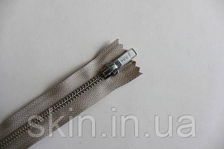 Молния металлическая YКК № 5, длинна - 18 см., тесьма - бежевая, цвет зубьев - никель, артикул СК 5244, фото 2