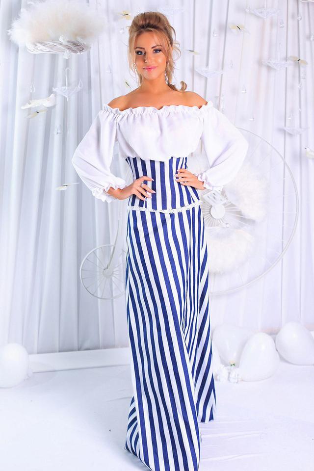 5d6622bec0e Красивый женский сарафан с открытыми плечами. Ткань  Юбка - стрейч-котон