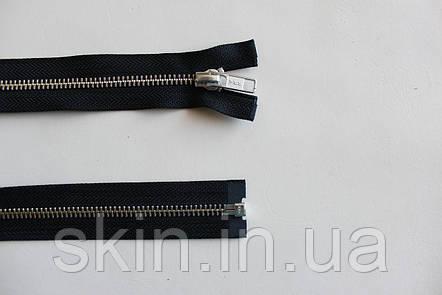 Молния металлическая YКК , размер № 5, длинна - 60 см., тесьма - черная, цвет зубьев - никель, артикул СК 5249, фото 2