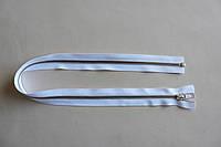 Молния металлическая YКК , размер № 5, длинна - 60 см., тесьма - белая, цвет зубьев - никель, артикул СК 5252