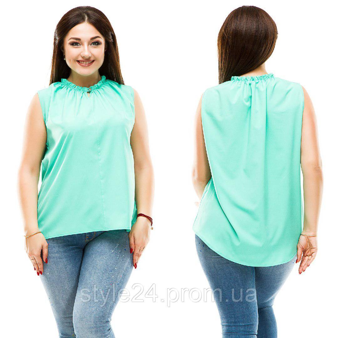 Батальна літня блуза видовжена ззаду.Р-ри 50-56