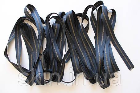 Молния металлическая рулонная YКК , размер № 3, тесьма - черная, цвет зубьев - антик, артикул СК 5259, фото 2