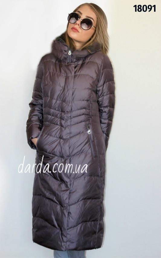 6dd7f0ac9cc Женское зимнее пальто с капюшоном Mishele 18091 купить в Украине