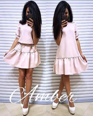 Платье универсальное с рюшами под пояс или разлетайкой, размер единый 42-46, фото 2