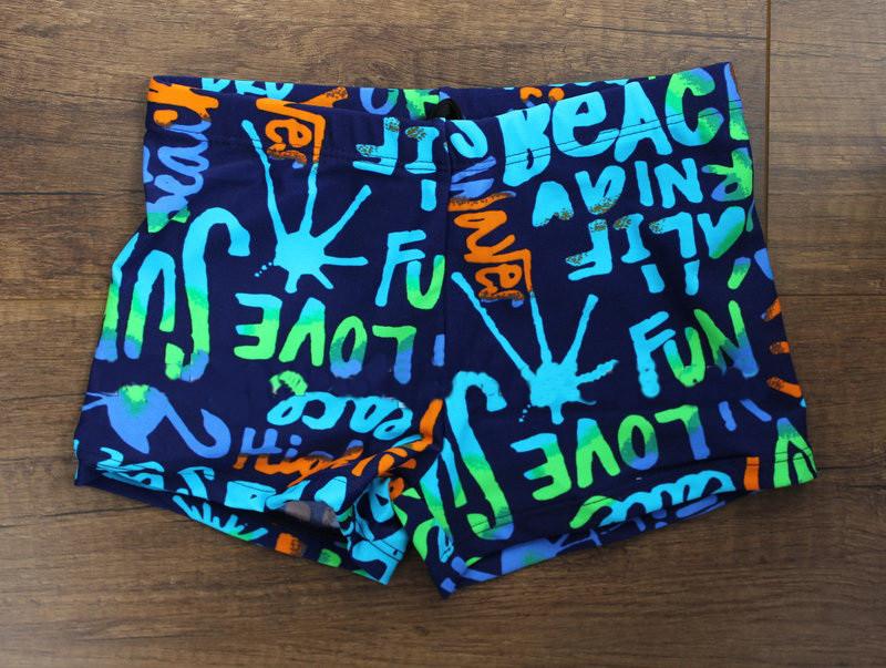 Детские яркие пляжные плавки-боксеры для мальчиков р. 28-38