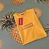 Supreme вышивка Футболка желтая. Люксовая копия, фото 3