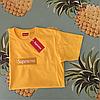 Supreme вышивка Футболка желтая. Люксовая копия, фото 2