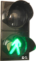 Светофор СД П1.2-С Светофор дорожный светодиодный, пешеходный, 2-х секционный, D = 300мм
