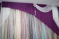 Ламбрекен односторонний фиолетовый