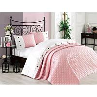 Покрывало хлопок с наволочками Halley - Orient 240*260 светло-розовый