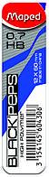 Стрижні до механічних олівців Maped 12шт 0.7мм (MP.560430)