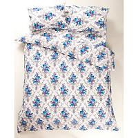 Постельное белье Lotus Ranforce - Loise V1 синий двуспальное