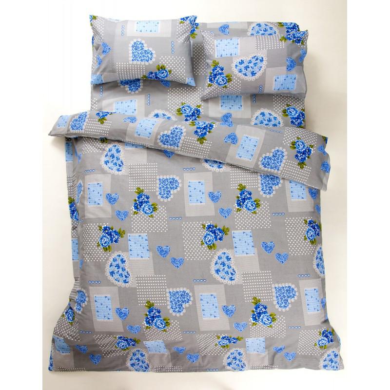 Постельное белье Lotus Ranforce - Tendresse голубой евро