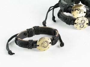 Браслет кожаный Zodiak Metal 12 видов