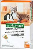 АДВАНТЕЙДЖ 40-капли от блох для котов весом до 4х кг