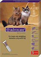 АДВОКАТ4-8кг  препарат для кошек от внешних и внутриних паразитов,для наружного применения.