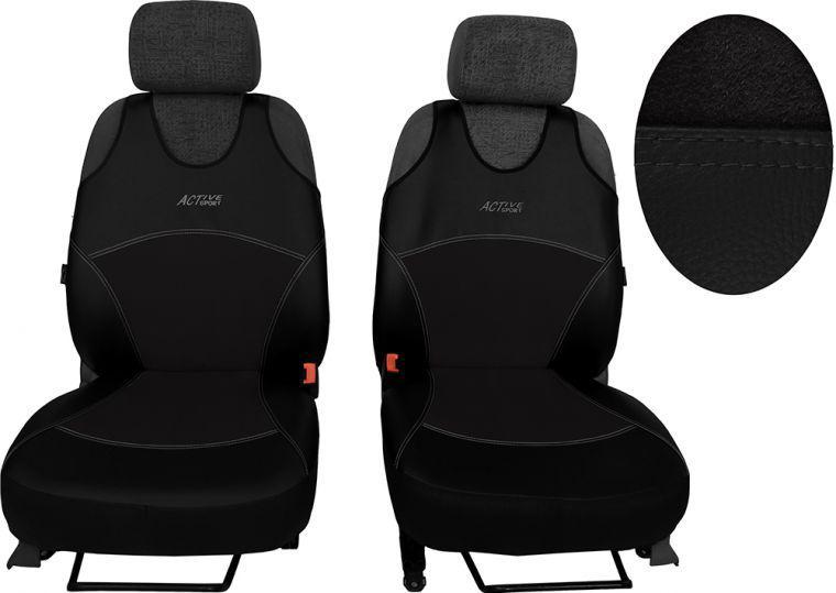 Майки на автомобільні сидіння 1+1 Activ Sport з екошкіри і алькантари